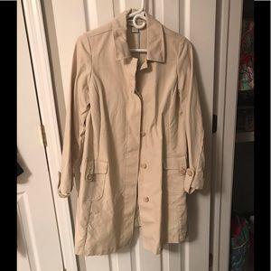 Maternity trench coat